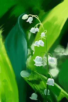 Muguet by Vassantha - May Day Beltane Flower Lily of the Valley