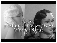 Ideas Hair Styles Vintage Updo Finger Waves For 2019 Old Hollywood Waves, Old Hollywood Hair, Flapper Hair, 1920s Hair, Wedding Hairstyles For Long Hair, Vintage Hairstyles, Vintage Updo Tutorial, Wig Styling Tutorial, Finger Waves Tutorial