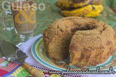 Vai sempre bem uma fatia de bolo, não? Esta delicia de Bolo de Banana Nota 10 Sem Glúten e sem lactose é super fácil de fazer.  #Receita aqui: http://www.gulosoesaudavel.com.br/2014/03/01/bolo-banana-nota-10-sem-gluten/
