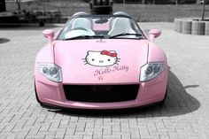 Pink Hello Kitty Car