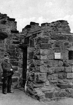 Old photograph of the Keeper Of The Keys at the historic castle in St Andrews, Fife