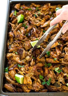 Cooked low and slow for hours and then broiled to give a delicious crispy effect, these slow cooker carnitas are the perfect filling for pork tacos, tortas, tamales and more. These Crispy Slow Cooker Keto Crockpot Recipes, Healthy Recipes, Pork Recipes, Cooker Recipes, Mexican Food Recipes, Dinner Recipes, Recipies, Summer Crock Pot Recipes, Crockpot Drinks