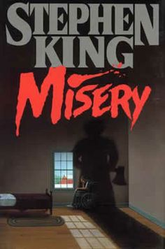 """Misery"" by Stephen King. The book that started it all. King's work, by also my love affair with reading. Thanks Stephen King! Stephen King It, Stephen King Novels, Steven King, I Love Books, Great Books, Books To Read, My Books, Music Books, Movie Posters"