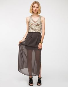 Zenith Skirt In Charcoal