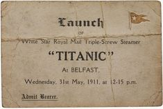 Captain Smith was planning to retire after Titanic's maiden voyage. The Titanic had 4 elevators in First class and 1 in Second class). At the time, Titanic's whistles were the larges… Rms Titanic, Titanic Sinking, Titanic Ship, Titanic Photos, Titanic Movie, Titanic Wreck, Titanic Museum, Belfast, Modern History