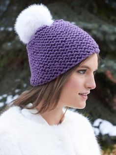 Perfect for fledgling knitters looking to take on their first knit hat pattern, the Beginners' Garter Stitch Hat is a cozy and cute option for cold weather wear.