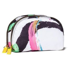 Sonia Kashuk Art of Beauty Face Print - Double Zip Cosmetic Bag - Limited Edition Sonia Kashuk, Art Of Beauty, B Fashion, Cosmetic Pouch, Printed Bags, Bag Organization, Gym Bag, Coin Purse, Zip