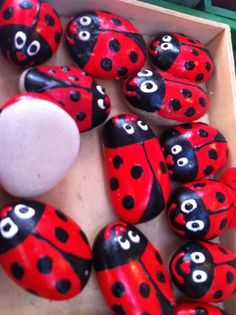 Found these gorgeous things in Slovakia.. #Ladybugs #stones