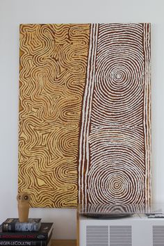 SOLD Painting 1: size 120x86cm /  price 500 EUR Tribal Patterns, Textile Patterns, Textiles, Aboriginal Art For Sale, African Bedroom, Didgeridoo, Cement Walls, Linear Pattern, Expressive Art