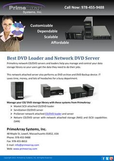 primearry network cddvd servers and loaders help you manage and control your data storage