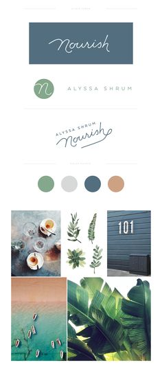 Lovely earthy colours green, blue and brown brand style guide. Lovely earthy colours green, blue and brown brand style guide. Layout Design, Web Design, Logo Design, Website Design, Graphic Design Trends, Brand Identity Design, Graphic Design Inspiration, Brand Inspiration, Brand Design