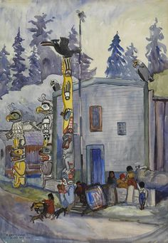 Alert Bay, 1912 Emily Carr. National Gallery of Canada 3544