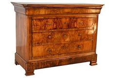Personal Space | One Kings Lane Vintage/Black Sheep Antiques 19th-C. French Walnut Commode $6000/4195