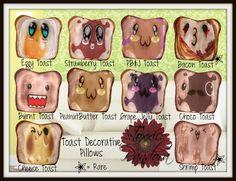 ::Toxxic:: Pandora Decorative Pillow Toast Gacha