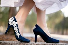 Hey, I found this really awesome Etsy listing at https://www.etsy.com/listing/264833150/blue-wedding-shoes-navy-bridal-shoes-low