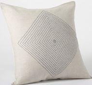 Coyuchi Natural Linen Triple Diamond Decorative Pillows