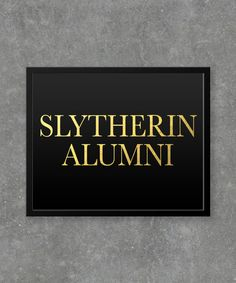 Slytherin Alumni Foil Print Art / Graphic Design / printed with high quality Foil Print Art / real foil / Home & office decor