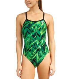 The Finals Onyx Butterfly Back One Piece Swimsuit at SwimOutlet.com - The Web's most popular swim shop