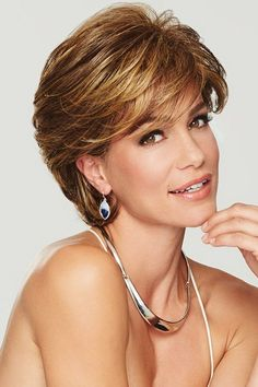 Gratitude by Eva Gabor Wigs - Heat Friendly Synthetic Wig - Frisuren Short Hairstyles For Thick Hair, Short Hair With Layers, Short Bob Haircuts, Short Hair Cuts For Women, Medium Hair Styles, Curly Hair Styles, Gabor Wigs, Trending Hairstyles, Men's Hairstyles