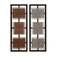 Benzara 13936 Set Of 2 Amozonia Bamboo Wood Wall Art Decor Sculpture [Misc.] Manufactured to the Highest Quality Available.. Design is stylish and innovative. Satisfaction Ensured.. Great Gift Idea..  #Benzara #Home