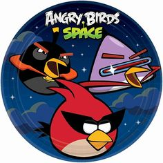 Angry Birds Space Lunch Plates 9in 8ct