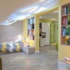 Dormitorios infantiles de estilo moderno por Студия интерьера Дениса Серова