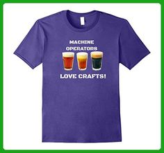 Mens Funny Craft Beer T Shirt for Men or Women Machine Operators XL Purple - Food and drink shirts (*Amazon Partner-Link)