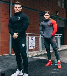 2017 Men's Shark track suit is suitable for men's casual men's fall suit men's Bodybuilding leisure suit Hoodie Sweatshirts, Sweater Hoodie, Gym Tracksuit, Fitness Bodybuilding, Fitness Man, Pantalon Costume, Body Building Men, Moda Casual, Style Casual