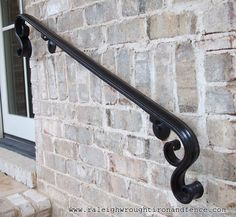 New York City NY New Jersey custom wrought iron railings Raleigh Wrought Iron Co. - New York City NY New Jersey custom wrought iron railings Raleigh Wrought Iron Co. Wrought Iron Stair Railing, Stair Railing Design, Iron Staircase, Wrought Iron Decor, Metal Railings, Stair Handrail, Wrought Iron Fences, Railing Ideas, Banisters