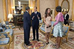 Barack and Michelle with Wills and Kate