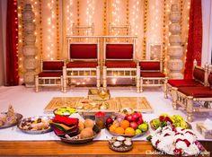 indian wedding tradition mandap decor red gold white http://maharaniweddings.com/gallery/photo/4656