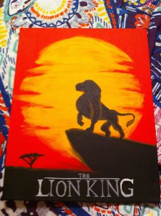 Disney The Lion King inspired 16x20 Canvas by TheDisneyYouRemember, $35.00