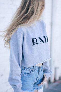 Crop Top RAD Sweatshirt Tumblr Style