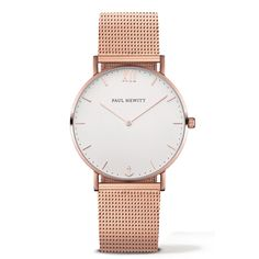 Watch Sailor Line White Sand IP Rose Gold Metal Watchstrap IP Rose Gold