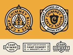Chimney by Nick Slater - Dribbble Logo Desing, Graphic Design Typography, Branding Design, Badges, Badge Icon, Circular Logo, Seal Design, Word Design, Retro Logos