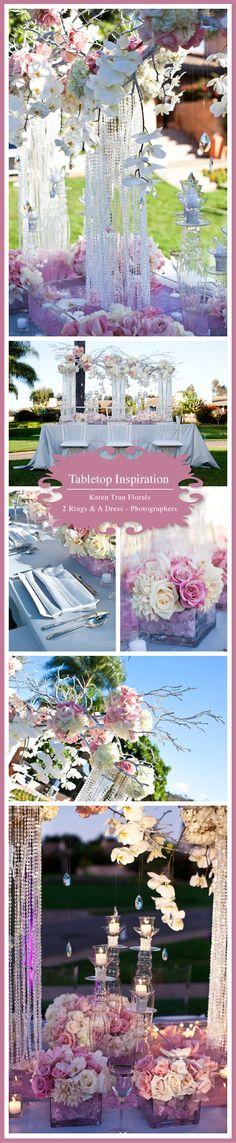 Floral Design: Karen Tran Florals  Linens: Wildflower Linen  Rentals: Kool Chairs  Location: Rancho Valencia, Rancho Santa Fe  Photography: 2 Rings and A Dress – Photographers
