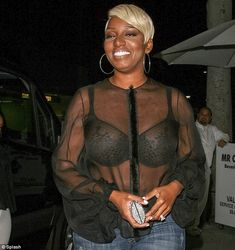 PHOTOS & POLL: Nene Leakes Dines Out In Sheer Blouse & Sexy Bra - Va Va VOOM! #RHOA