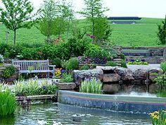 Inspiration -- The Island Garden at Powell Gardens Powell Gardens, Learning Sites, Garden Bridge, Botanical Gardens, Missouri, Kansas City, Wildlife, Outdoor Structures, Gardening