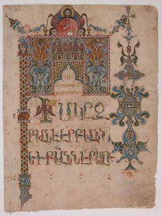 Sargis | Title Page of the Gospel of John | Armenian | The Metropolitan Museum of Art