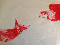 Fox & Hen | Talya Baldwin Illustration