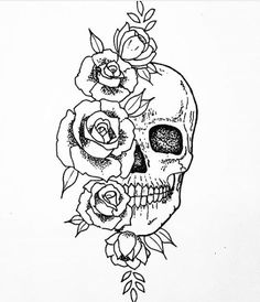 Gesicht in 2 Hälften geteilt,eine tot,eine wunderhübsch,Gren… – Design tattos Art Drawings Sketches, Tattoo Sketches, Tattoo Drawings, Body Art Tattoos, Floral Skull Tattoos, Skull Thigh Tattoos, Tatoos, Bart Tattoo, Kritzelei Tattoo