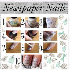 Newspaper nail DIY