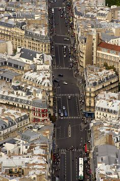 Paris, bird's eye view.