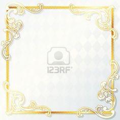 elegant white and gold wedding frames