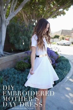 Embroidered Fit and Flare Dress Sewing Tutorial | Merrick's Art