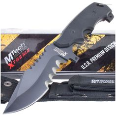 MTech Xtreme MX-8112 Large Tooth Serrated Knife w/ MOLLE Sheath | MooseCreekGear.com | Outdoor Gear — Worldwide Delivery! | Pocket Knives - Fixed Blade Knives - Folding Knives - Survival Gear - Tactical Gear