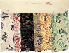 Fabric samples by Sonia Delaunay at the National Design Museum (via lloso http://lloso.blogspot.com/2011/05/color-moves.html)