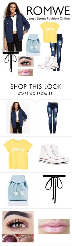 """Romwe"" by ptv-creeper-mcr-fob-spn ❤ liked on Polyvore featuring MANGO, Converse, Sugarbaby and Joomi Lim"