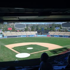 View from the press box - Behind the scenes tour of Dodger Stadium