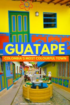 Explore #Guatape, the most colourful town in #Colombia and climb to the top of El Penon de Guatape on this day trip from #Medellin!